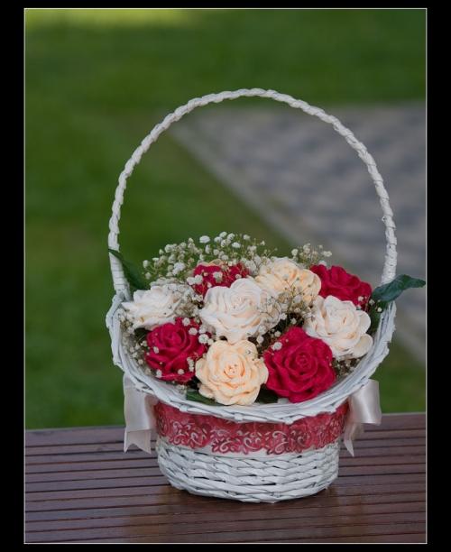 Корзинка для цветов из гофрированной бумаги своими руками 993